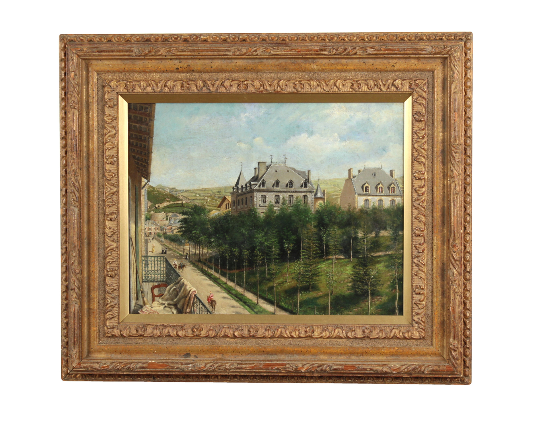 "Achille Ernest Mouret (19th c.) French, ""Villa Beausejour"", 1840-60"