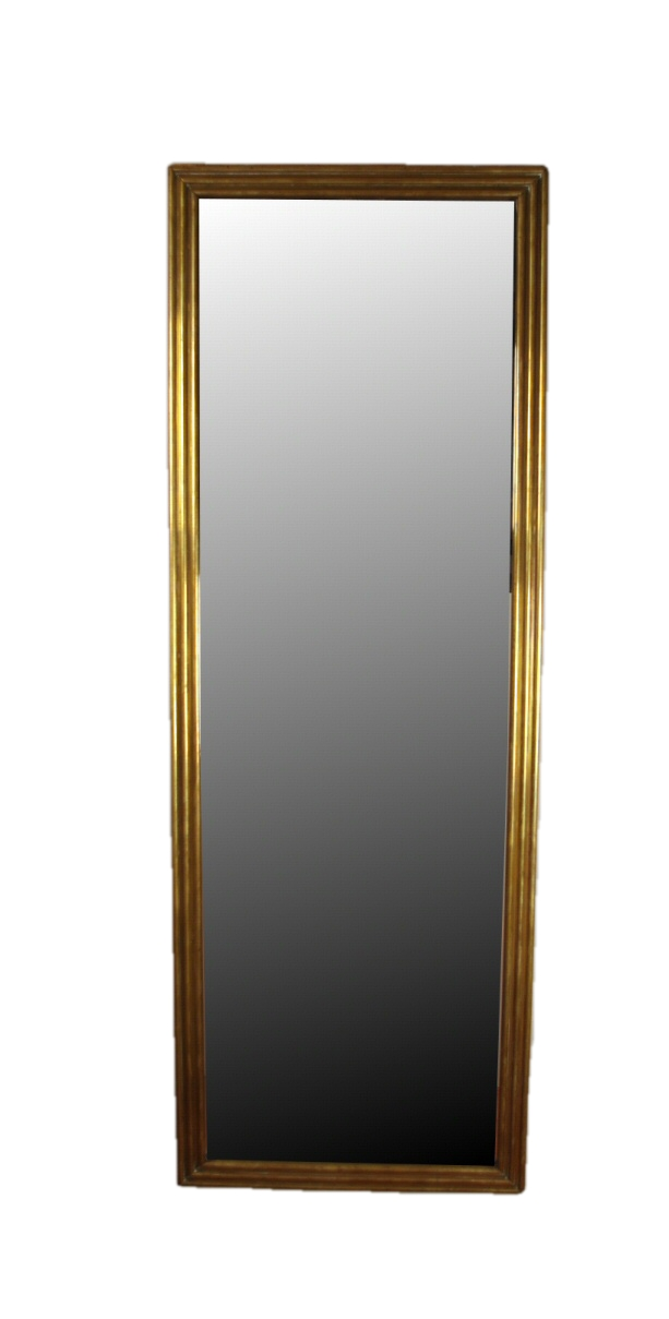 Louis Philippe Brass Mirror, Mid 19th c.