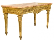 View 3: Fine Italian Carved and Giltwood Neoclassical Console Table, c.1790