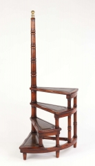 View 2: George III Style Mahogany Spiral Library Steps