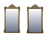 View 1: Pair of Louis XVI Style Giltwood Pier Mirrors, c. 1840