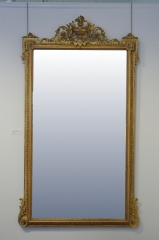 View 2: Pair of Louis XVI Style Giltwood Pier Mirrors, c. 1840