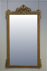 View 3: Pair of Louis XVI Style Giltwood Pier Mirrors, c. 1840