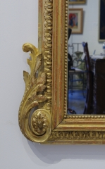 View 10: Pair of Louis XVI Style Giltwood Pier Mirrors, c. 1840