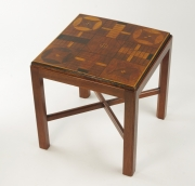 View 5: Inlaid Parcheesi Board Mounted as a Table, 19th c.