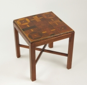 View 6: Inlaid Parcheesi Board Mounted as a Table, 19th c.