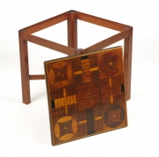 View 7: Inlaid Parcheesi Board Mounted as a Table, 19th c.