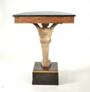 View 9: Pair of Carved and Painted Demilune Console Tables, 20th c.
