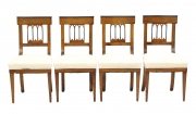 View 1: Set of Four Biedermeier Side Chairs, c. 1810-20