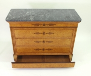 View 6: French Restauration Burr Ash Chest of Drawers, c. 1825