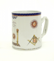 View 2: Chinese Export Porcelain Masonic Mug, c. 1795