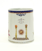 View 3: Chinese Export Porcelain Masonic Mug, c. 1795