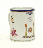 View 8: Chinese Export Porcelain Masonic Mug, c. 1795