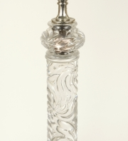 View 2: Signed Baccarat Crystal Lamp, c. 1880