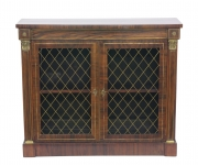 View 1: Regency Rosewood Bookcase Cabinet, c. 1820