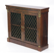 View 3: Regency Rosewood Bookcase Cabinet, c. 1820