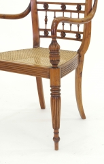 View 9: Set of Six British Colonial Dining Chairs, c. 1830
