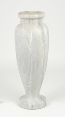View 2: Art Deco Carrara Marble Floor Vase, c. 1930
