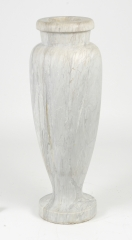 View 3: Art Deco Carrara Marble Floor Vase, c. 1930