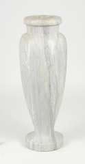 View 4: Art Deco Carrara Marble Floor Vase, c. 1930