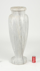 View 5: Art Deco Carrara Marble Floor Vase, c. 1930