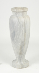 View 6: Art Deco Carrara Marble Floor Vase, c. 1930
