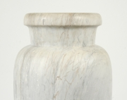 View 8: Art Deco Carrara Marble Floor Vase, c. 1930