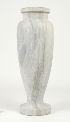 View 9: Art Deco Carrara Marble Floor Vase, c. 1930