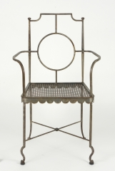 View 4: Pair of Poillerat Style Wrought Iron Garden Chairs