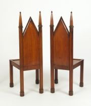 View 4: Pair of George III Oak Gothic Hall Chairs, c. 1800
