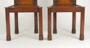 View 7: Pair of George III Oak Gothic Hall Chairs, c. 1800