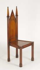 View 8: Pair of George III Oak Gothic Hall Chairs, c. 1800