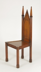 View 9: Pair of George III Oak Gothic Hall Chairs, c. 1800
