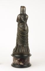 View 2: Grand Tour Bronze Figure of Pudicity, c. 1890