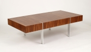 View 2: Modernist Walnut Coffee Table, 1980s