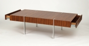View 3: Modernist Walnut Coffee Table, 1980s