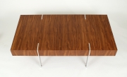 View 4: Modernist Walnut Coffee Table, 1980s