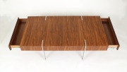 View 5: Modernist Walnut Coffee Table, 1980s