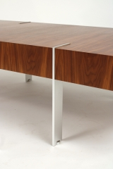 View 6: Modernist Walnut Coffee Table, 1980s