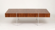 View 8: Modernist Walnut Coffee Table, 1980s