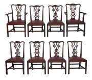 Set of Eight Chippendale Mahogany Dining Chairs (6+2), early 19th c.