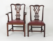 View 3: Set of Eight Chippendale Style Mahogany Dining Chairs (6+2), early 19th c.