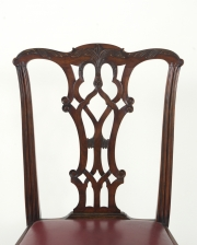View 4: Set of Eight Chippendale Style Mahogany Dining Chairs (6+2), early 19th c.