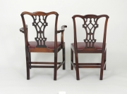 View 12: Set of Eight Chippendale Style Mahogany Dining Chairs (6+2), early 19th c.