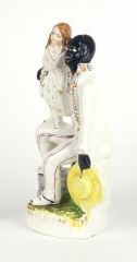 "View 3: Staffordshire Figure, ""Uncle Tom and Eva"", c. 1852"
