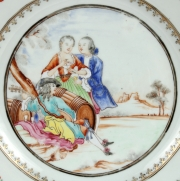 View 2: Chinese Export Plate Decorated with a Music Party, c. 1745