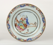 View 5: Chinese Export Plate Decorated with a Music Party, c. 1745