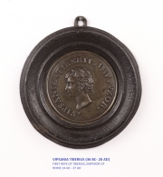 View 2: Set of Six Grand Tour Spelter Medallions, Mid 19th c.