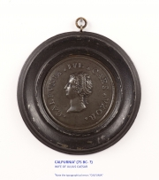 View 7: Set of Six Grand Tour Spelter Medallions, Mid 19th c.