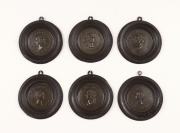 View 9: Set of Six Grand Tour Spelter Medallions, Mid 19th c.